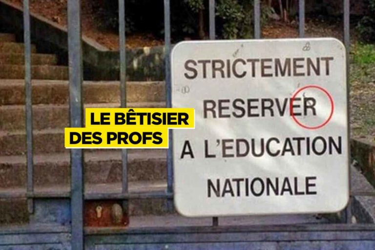 Réserver à l'Education nationale : le bêtisier des profs